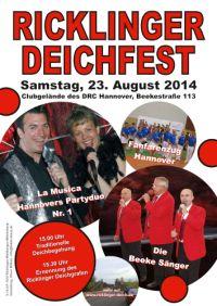 19. Ricklinger Deichfest am Samstag, 23. August 2014